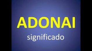 ADONAI SIGNIFICADO